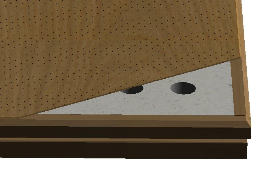 Puucomps nanoperforering en öppnad detaljbild.